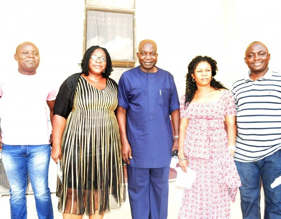 Board Chairman/Vice Chancellor, Prof Hilary Edeoga, Managing Director, Mr. Bashir Ogungbangbe on the extreme right and the coordinators of Quintessential Women.