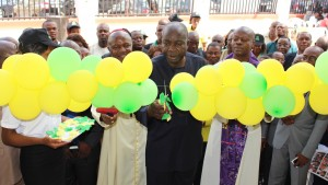 Cutting of the Ribbon by The Chairman/Vice Chancellor of Michael Okpara University of Agriculture, Umudike