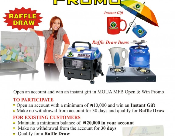 Open, Save And Win Promo